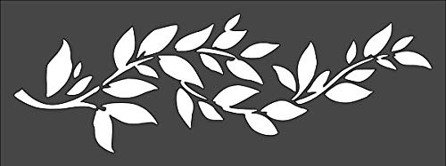Rubstamper Leaf Border Stencil Reusable Sturdy Flexible Clear Plastic 1-3x8 in Arts and Crafts Material Scrapbooking for Airbrush Painting Drawing