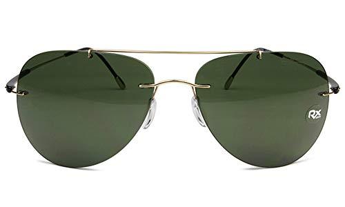 Silhouette Titanium Aviator Sunglasses Adventurer Gold/Green Lens 8667-6205