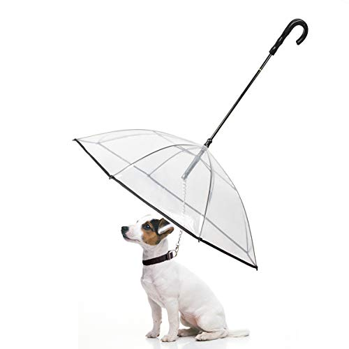 Dog Umbrella with Leash for Small Dog Walking in Outdoor (Snow/Rain)