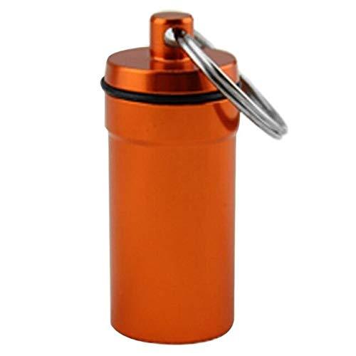 N / A Mini aleación de Aluminio al Aire Libre Botella de píldora de Almacenamiento de Medicina a Prueba de Agua Caja de la Caja Llavero para Pastillas tabletas Coincide 51x20.5x20.5 cm