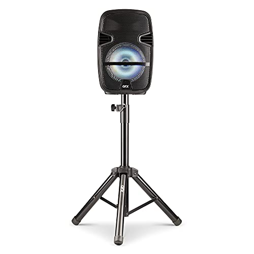 QFX PBX-61087 Portable Party Sound System with Stand and Wireless Microphone
