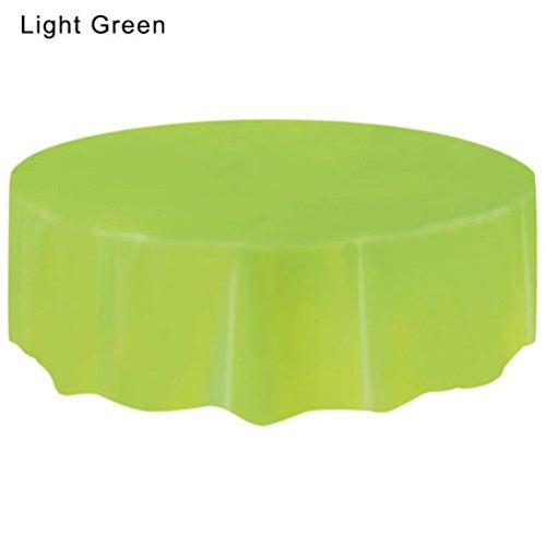 Hunpta Große Kunststoff- Tischdecke, rund, abwischbar, für Partys grün