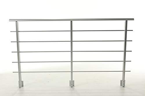 Geländer mit Handlauf - 2 Meter Set aus Aluminium PAB 90 DOLLE - Balkongeländer - Treppengeländer - seitliche Montage (74,99 €/m) für Innen und Außen