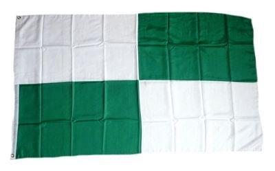 Flagge Fahne Karo grün / weiß groß 90 x 150 cm FLAGGENMAE®