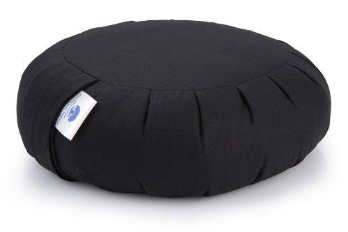 Blue Banyan Zafu Cuscino Meditazione, Cuscino di Supporto (Grano saraceno) - Zen Nero
