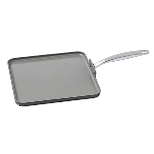 GreenPan Chatham 11' Ceramic Non-Stick Square Griddle, Grey -