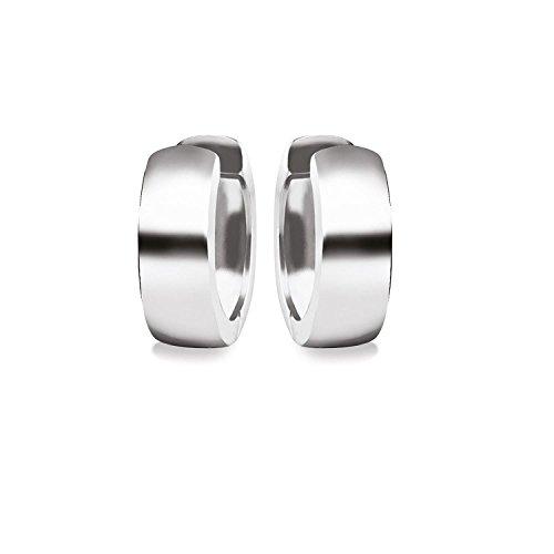 Klassische Creolen Silber 925 Ohrringe Klappcreolen inkl. Luxusetui + Ohrstecker Silbercreolen Kreolen Ohrschmuck Silberohrstecker Klappkreolen für Damen kleine Ohrhänger schlicht FF494 SS925