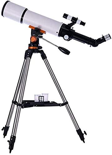 J-Love Telescopio para Principiantes, Apertura 80 mm Telescopio Refractor astronómico 500 mm BAK4 Prisma Telescopio Lente FMC para astronomía con Adaptador para teléfono Inteligente