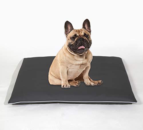 BiBi Relax Cuccia Cuscino per Cane   Cuscino Cane in Ecopelle Resistente Che Si pulisce Facilmente, Alta qualità in gommapiuma. per Cani di Piccola e Media Taglia.100% Made in Italy. 80 x 60 cm