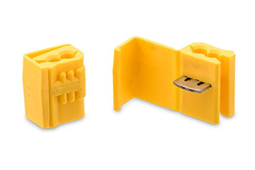 3M Scotchlok Electrical IDC 562-BOX, Double Run or Tap, Flame Retardant, Yellow, 12 AWG (solid/stranded), 10 AWG (stranded), 100 per pouch