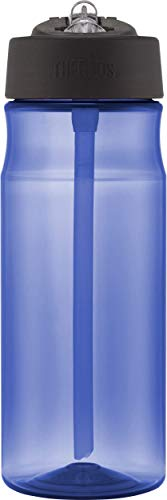 Thermos Hydration Water Bottle with Straw, Blue, 530 ml