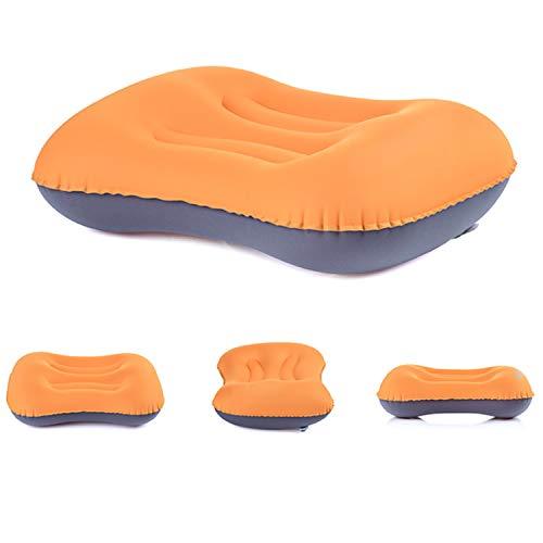 Aufblasbares Kissen Komfortables Nackenkissen Reisekissen Sitzkissen für Outdoor Camping, Strand, Urlaubsreise, Büro, Reise (orange)