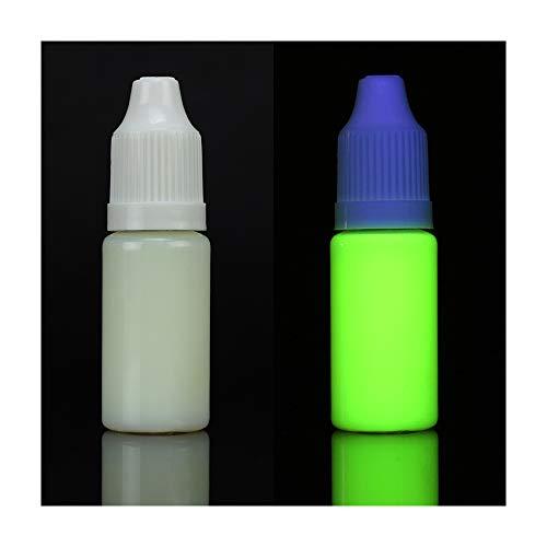 Unsichtbare UV-Schwarzlicht-Tinte für Tintenstrahldrucker, fluoreszierende unsichtbare UV-Tinte nur bei Schwarzlicht sichtbar 10 ml gelb