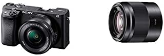 Sony Alpha A6400 Mirrorless Camera E Mount Compatible with 16-50mm Lens- Ilce-6400L/B with Sony SEL50F18/B 16-75mm Interch...