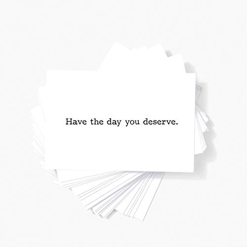 """Funny Sarcastic Humor Mini Insult Cards Have the Day You Deserve Rude Business Notecards - 2""""x3.5"""" Set of 20 Naughty Offensive Stationery Cards - Novelty Gag Gifts for Men and Women (DAY YOU DESERVE)"""