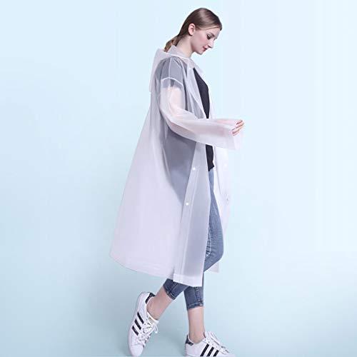 TALENT Regenponcho mit Kapuze Transparent 2 Stück,extra dick, Regenponchos für Erwachsene,Damen,Herren,Regencape ,tragbarer Regenmantel ,Regenjacke