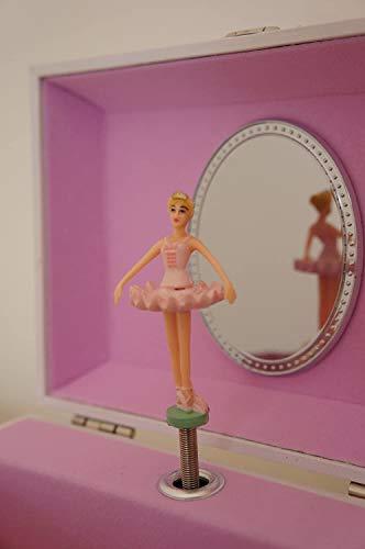 Caja de música y joyero de Mele & Co, diseño de Bailarina con Zapatos de Ballet