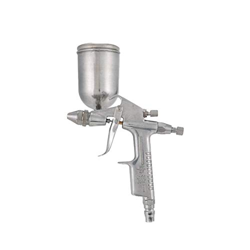 Amplio rango Pintor de aire del Pistola neumática de 0,5 mm de boquilla del rociador 150ML aerógrafo Pintura Herramienta atomizador con tolva for Pintura Coches Venta Desmontable ( Color : Silver )