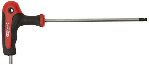 KS Tools 151.8134-E - Mango en T ERGO + llave hexagonal, bola 5mm terminó, en etiqueta de la caída