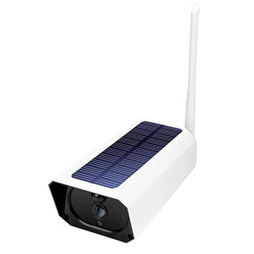 Baalaa CáMara de Seguridad para Exteriores CáMara WiFi Solar de Baja Potencia 1080P Audio Bidireccional Impermeable, DeteccióN de Movimiento PIR, VisióN Nocturna