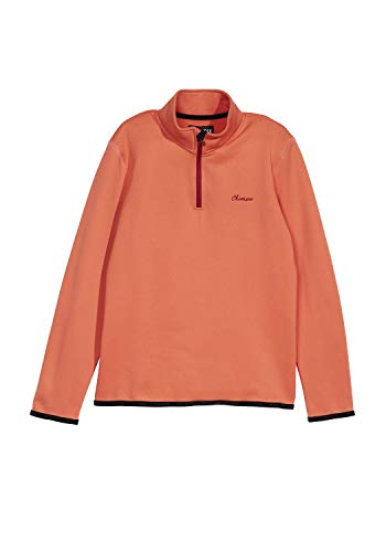 Chiemsee Kinder Mädchen Fleece, einfarbig Fleecejacke, Hot Coral, 146/152