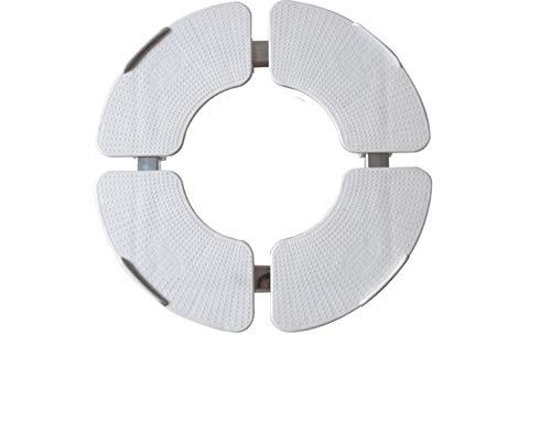 Runder vertikaler Schrank mit zylindrischem Sockel, mattenhohe Ablage, zylindrische Bodenwannen für Waschmaschinen (Größe: 25-27 cm)