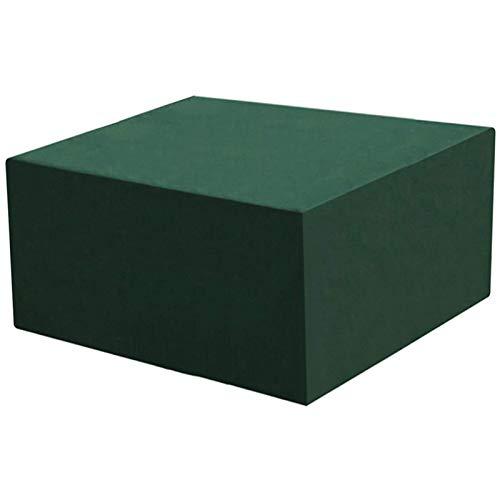 STZYY Copertura per mobili da Giardino, Tavolo da Patio e Copertura per Sedia a cubo Anti-nevischio, Resistente Anti-UV Impermeabile per Esterni, Orlo Regolabile, Verde, 277x255x100cm