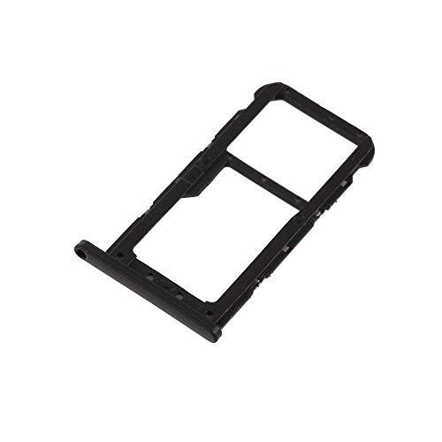 jbTec Dual SIM-Tray/SD-Card Karten-Halter passend für Huawei P20 Lite/Nova 3e - Slot Schlitten Kartenhalter Karte Rahmen Simkarten Holder, Farbe:Schwarz