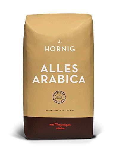 J. Hornig Kaffeebohnen Alles Arabica, 100% Arabica, 500g, reichhaltiges Aroma, für Filterkaffeemaschine und French Press, ganze Bohne