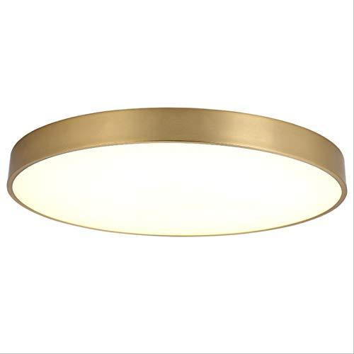 WFSDKN Ultradunne led-plafondlamp, goudkleurige lamp, installatie, voor woonkamer, slaapkamer, afstandsbediening decoratie, verlichting