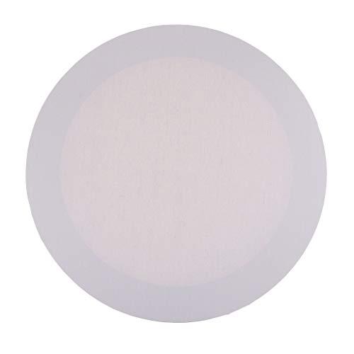 Weißer Runder Leerer Leinwand Brett Holzrahmen Für Künstler Acrylmalerei - Weiß, 40 cm