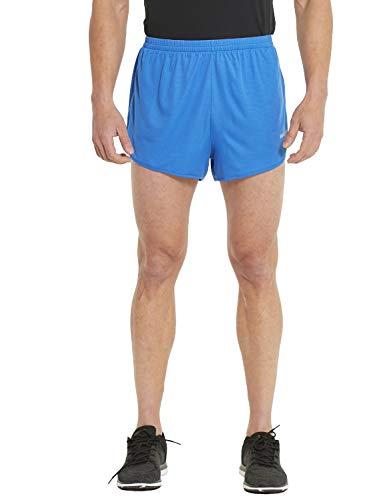 BALEAF Men's 3 Inches Running Shorts Reflective Active Gym Workout Shorts Powder Blue Size M