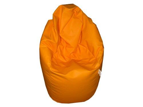Natalia Spzoo® Puff Bean Bag puf butaca Polipiel para Adultos y Adolescentes (Naranja)
