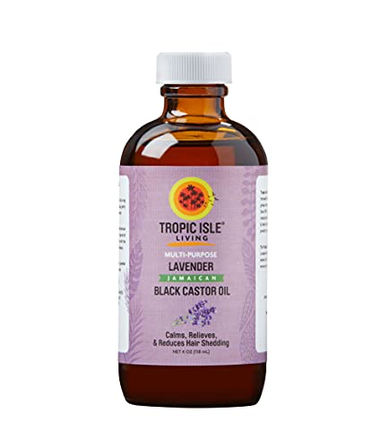 Tropic Isle Living Lavender Jamaican Black Castor Oil 4 oz