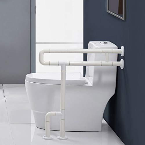 JMUNG Bad Handläufe/Toiletten WC Geländer Leggings Toilette Toilette WC Geländer Ältere Behinderte Geländer,Weiß