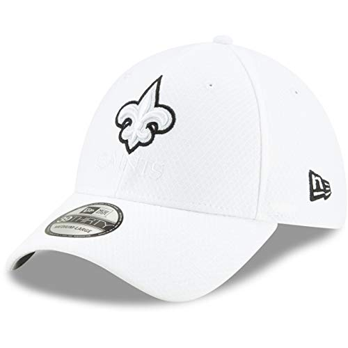 New Era 39Thirty Cap - Platinum Sideline New Orleans Saints