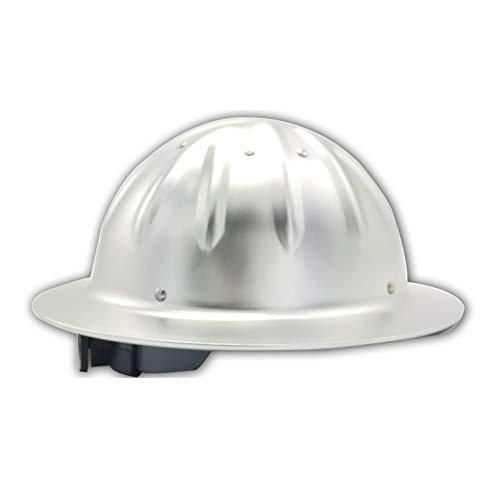 YZJJ Aluminiumhelm, Arbeitshelm Einstellbarer Schutzhelm - Bauhelm mit 4-Punkt Gurtband, Bauarbeiterhelm mit verstellbarem Helm, Bauhelm Aluminium Hard hat