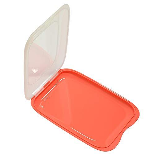 Hochwertige stapelbare Aufschnitt Box Frischhaltedose mit Deckel Wurstbehälter Vorratsdose aus Kunststoff Lachs
