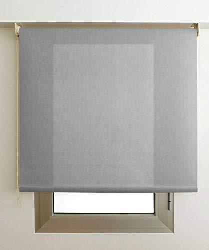 Estor Luminoso Elite (Desde 40 hasta 300cm de Ancho) Permite Paso de luz, no Permite Ver el Exterior/Interior. Color Gris. Medida 48cm x 240cm para Ventanas y Puertas