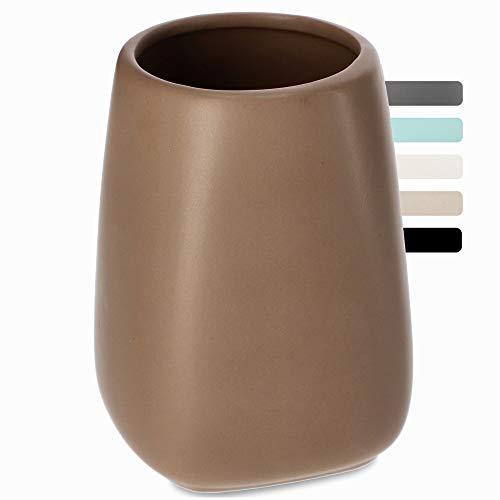 KADAX Vaso de baño, vaso para cepillos de dientes de cerámica, taza...