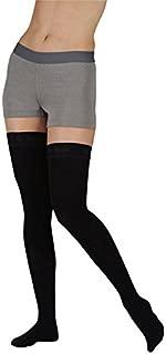 Juzo Soft Thigh High With Silicone Dot Band 30-40mmHg Open Toe, II, Beige