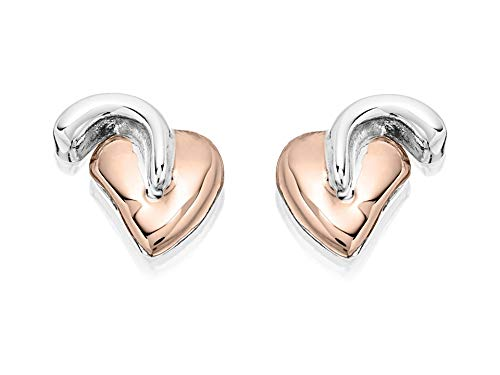 Clogau Women Jewellery Silver 9Ct Rose Gold Tree Of Life Stud Earring Gifts