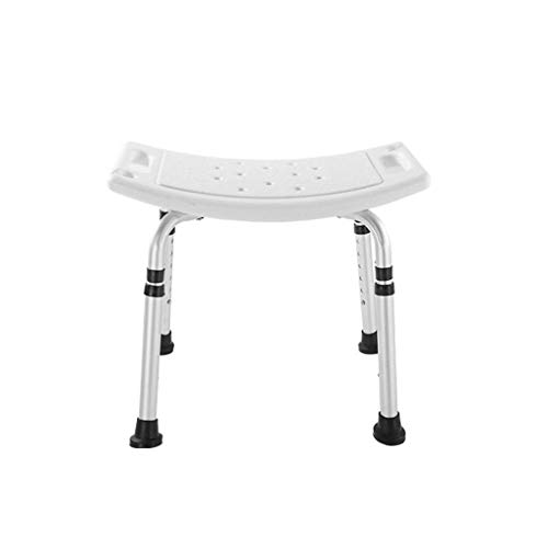 Aluminium Duschhocker Adjustable 6 Höhe Ohne Zurück Chiar Badezimmer Sitz SPA Anti-Rutsch-Badewanne Stuhl Badezimmer Stuhl lsmaa