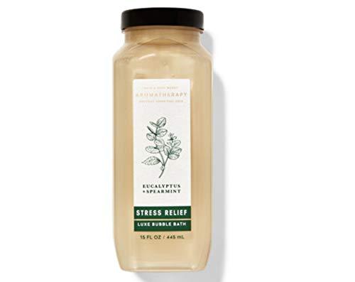Bath and Body Works Aromatherapy Stress Relief Eucalyptus Spearmint Luxury Bubble Bath 15 Fl Oz