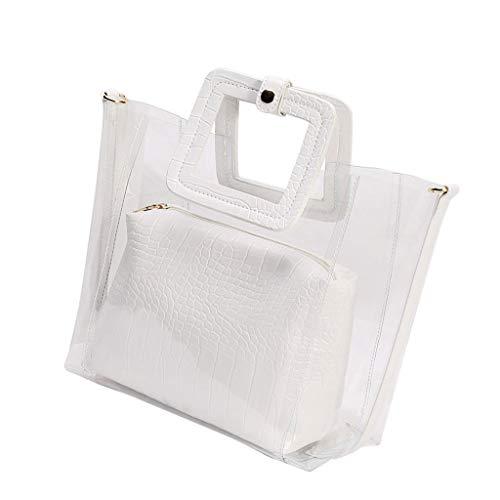 VEED Damen transparente PVC Strand Handtasche Tote Schulter Umhängetasche Summer Beach Mini Kosmetiktaschen