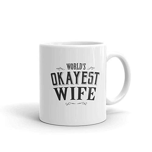 N\A World's Okayest Frau Kaffeebecher Frau Becher Frau fürs Leben Frau Geburtstagsgeschenk Frau Geschenk Frau Zitate Frau Frau Weihnachten