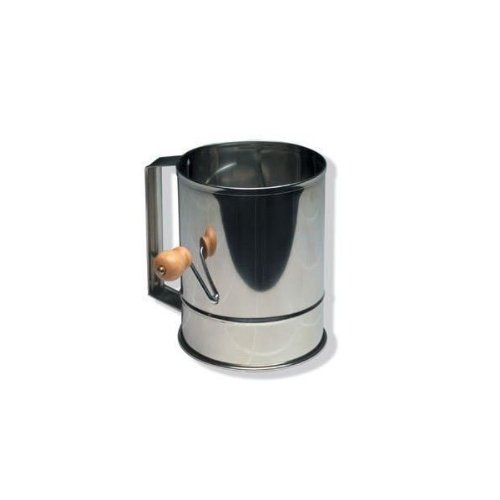 Stainless Steel Flour Sifter with Crank 5 Cup by SCI Scandicrafts