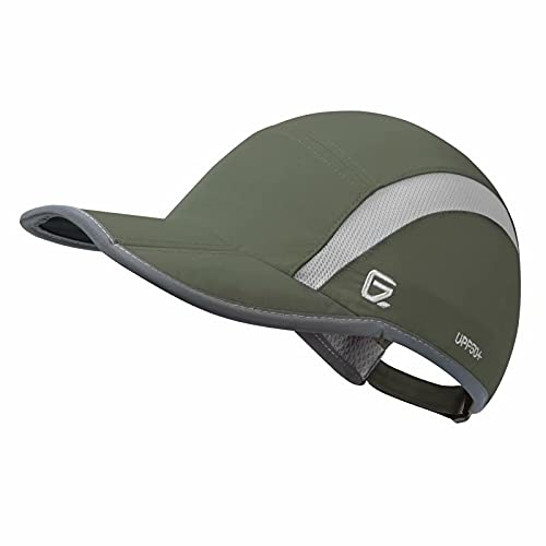 GADIEMKENSD UV Cap Hats Running Quick Drying Sports Hat Reflective Foldable Running Cap Baseball Cap...