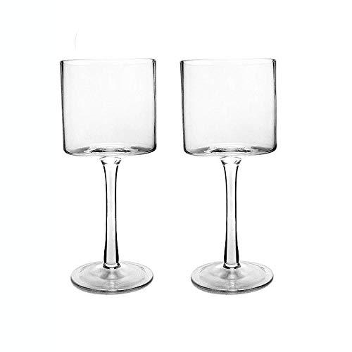 Tianhh Copas Rectas, Copas De Vino Sopladas Artificialmente, Hogar De Hotel Grande, Vidrio, Apto Para Lavavajillas