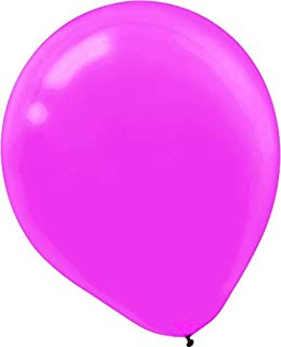 Plain Latex Balloons - Bright Pink, Pack of 72, Party Decor